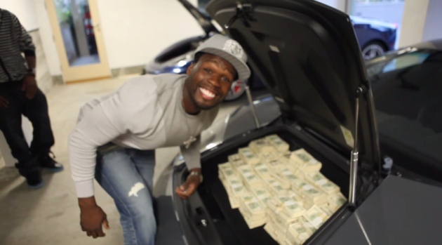 50 Cent files for bankruptcy.