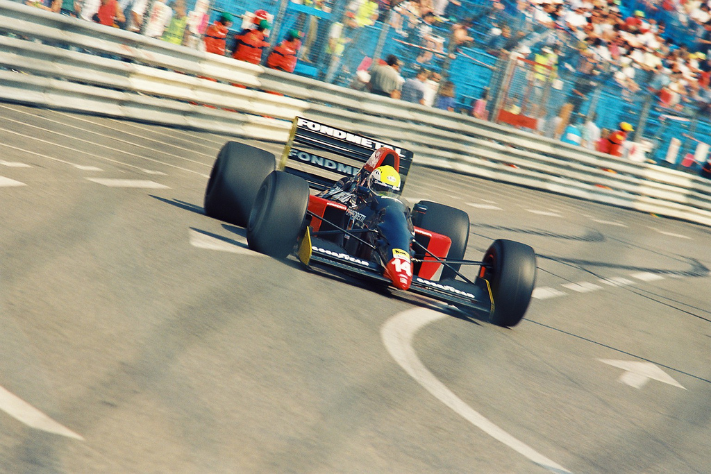 Andrea Chiesa at 1992 Monaco Grand Prix