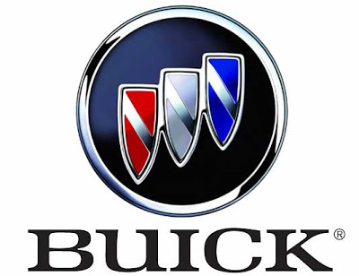 Buick logo red white blue shields