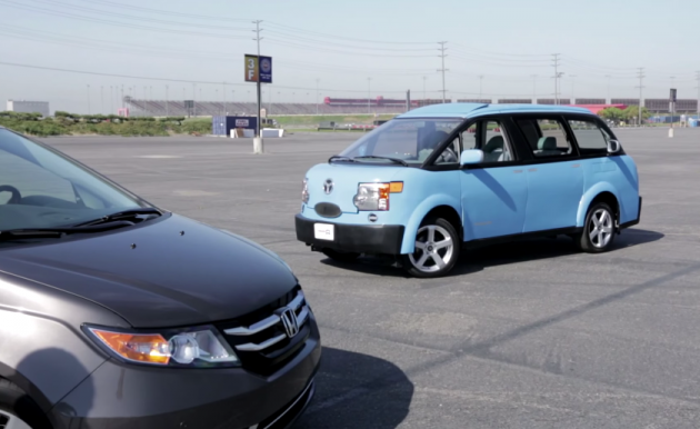 Edmunds.com Honda Odyssey vs National Lampoon Tartan Prancer minivan