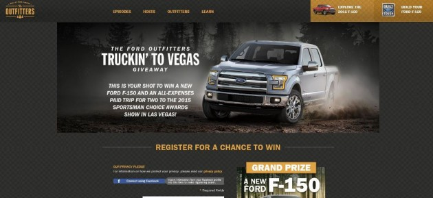 Ford Outfitters Truckin to Vegas Giveaway Sweepstakes 2015 F-150