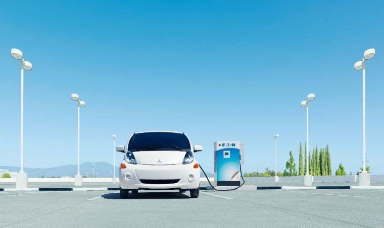 Mitsubishi i-MiEV at charging port