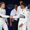 rosberg and hamilton - 2015 british grand prix