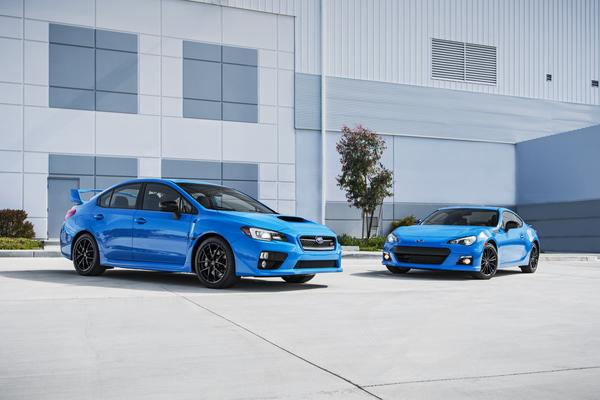 Subaru announced pricing for its 2016 Subaru Series.HyperBlue BRZ and WRX STI models