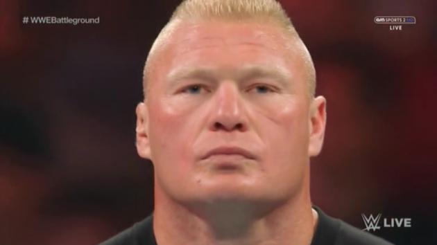 Brock Lesnar mean face