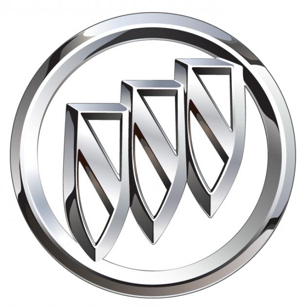 buick logo chrome tri shield