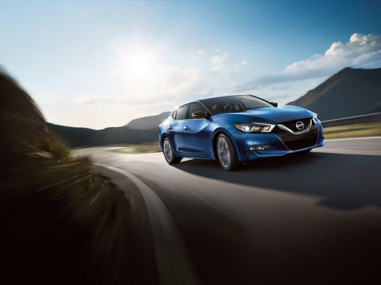 2016 Nissan Maxima on road