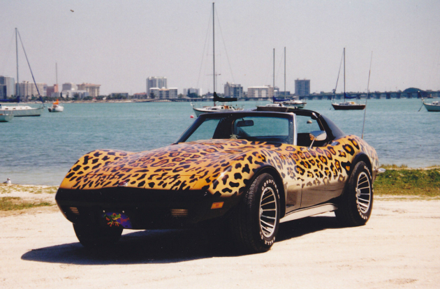 1971 Chevy Corvette C3 with leopard skin paint job
