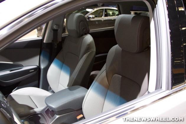 2015 Hyundai Santa Fe at Chicago Auto Show interior seats