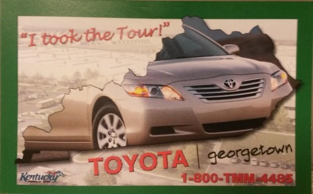 Toyota Motor Manufacturing Plant postcard