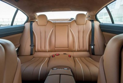 2016 BMW 6 Series Back Seat Leather