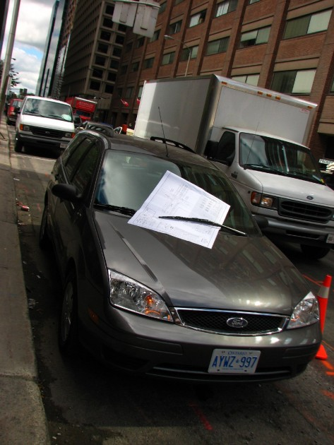 giant parking ticket