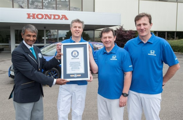 Honda Civic Tourer sets Guiness World Record