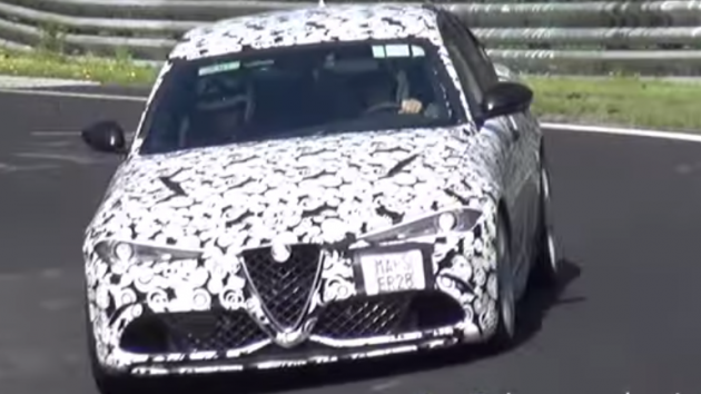 The Italian car manufacturer has been testing its Giulia QV at Nurburgring.
