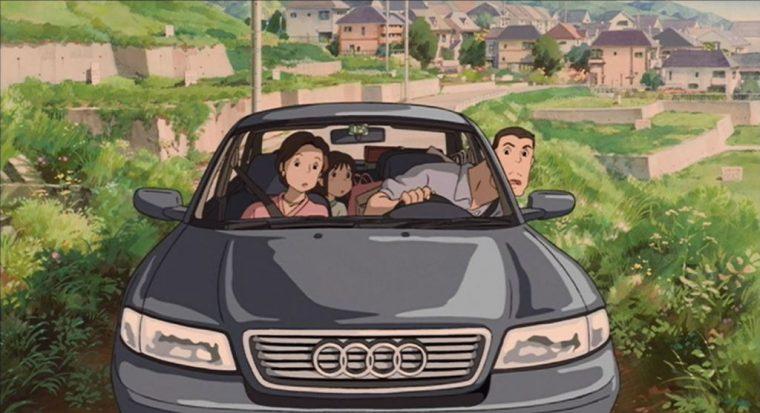 Audi A4 in Miyazaki Spirited Away (front)