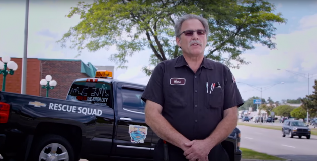Chevrolet Certified Service Rescue Squad technician Mark at Woodward Dream Cruise