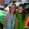 Danica Patrick Poses with a Fan