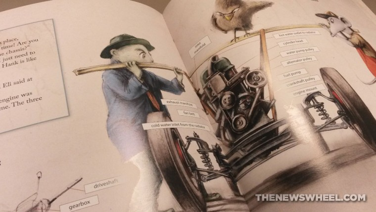 How to Build a Car Children's Book by Martin Sodomka pages spread