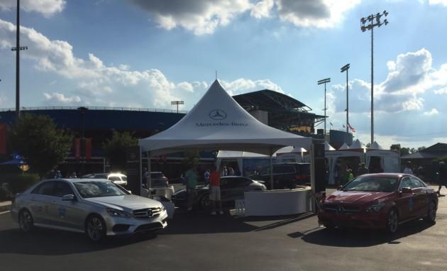 Mercedes-Benz display at 2015 Western & Southern Open in Cincinnati