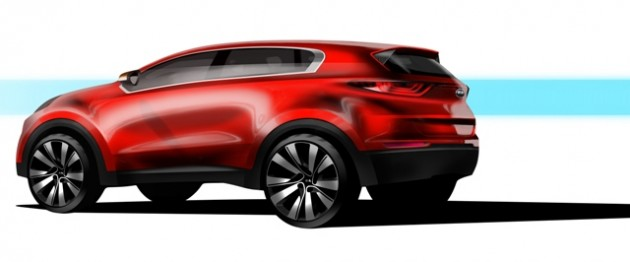 Next-Generation Kia Sportage Rear End