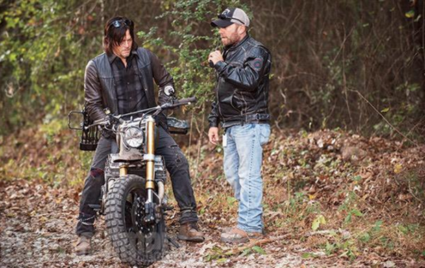Norman Reedus (Daryl Dixon) in The Walking Dead on his Classified Moto bike