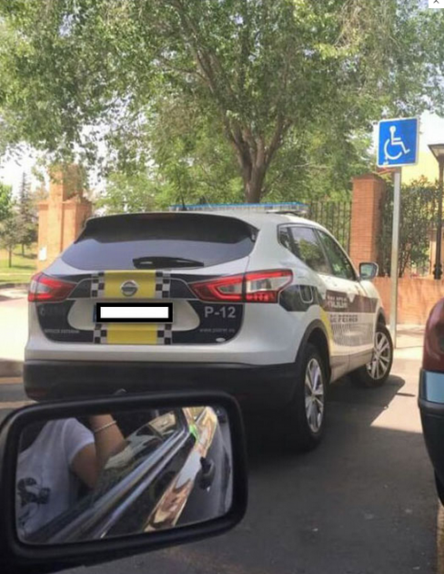 Spanish police car picture