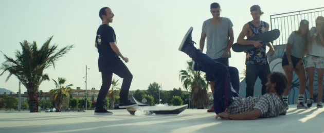 Lexus hoverboard fall