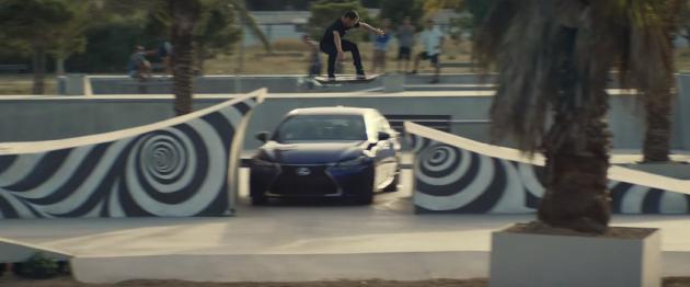 Lexus hoverboard jump