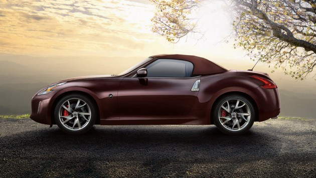 Nissan 370z Roadster Touring Black Cherry Side View