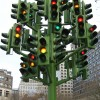 Traffic lights installation art