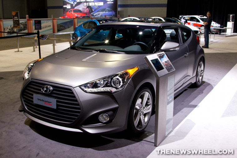 2016 Hyundai Veloster at Chicago Auto Show display