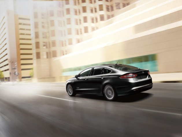 The 2016 Ford Fusion sedan features a newly designed grille.