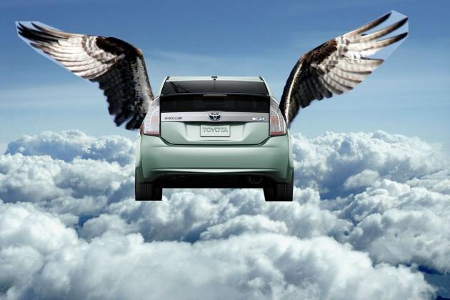 Toyota flying Prius
