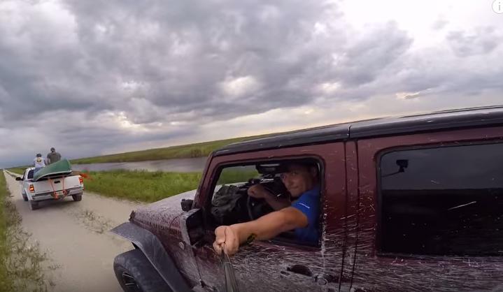 GoPro camera selfie stick crash