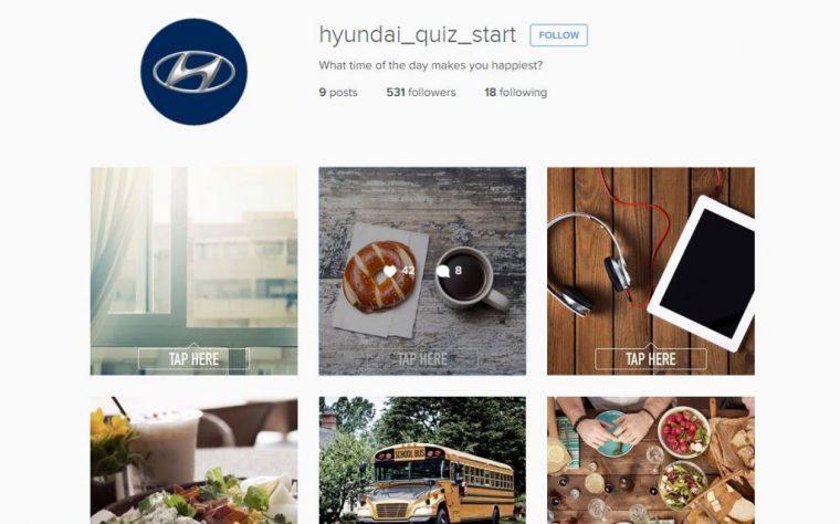 Hyundai Instagram Quiz Find perfect car