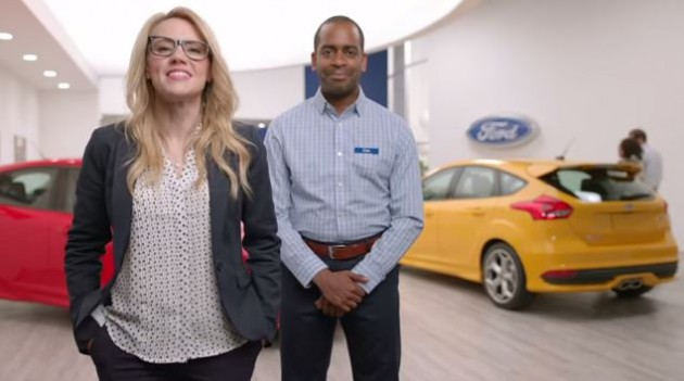 Kate McKinnon and Ford Focus