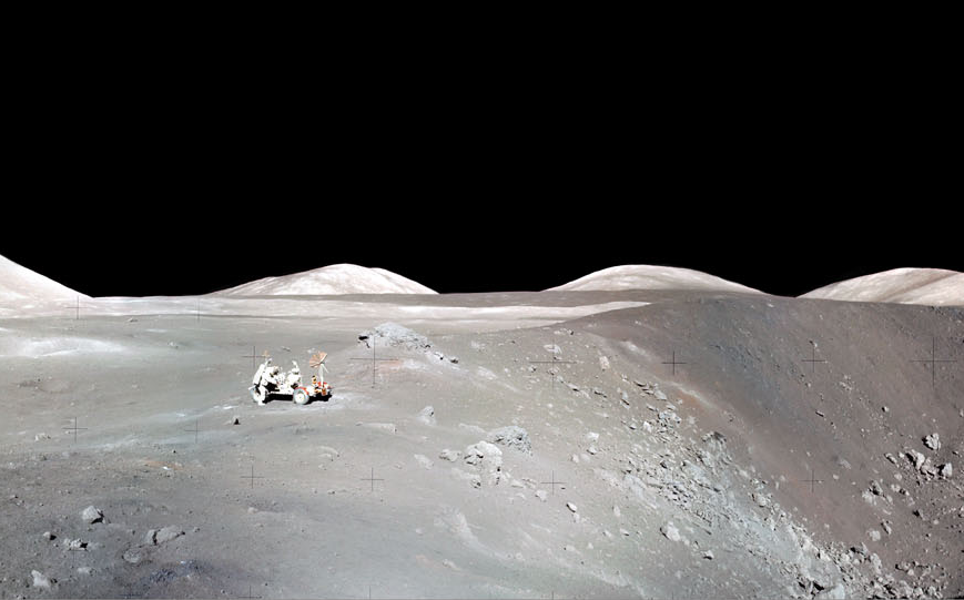 Lunar roving vehicle by Shorty Crater