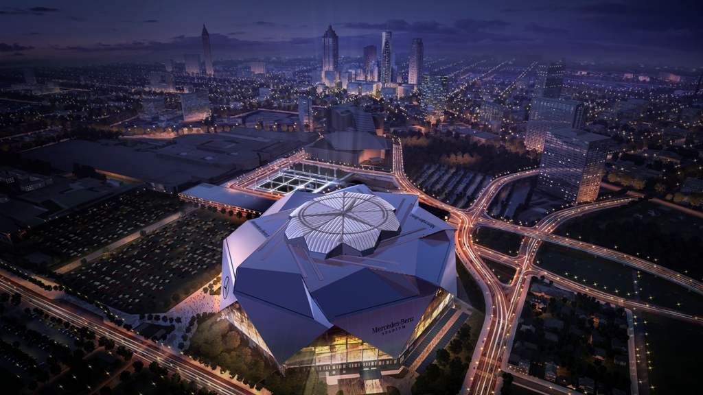 Atlanta Mercedes Benz Stadium >> Mercedes-Benz Gets Naming Rights to Atlanta Stadium for Falcons, United, and More - The News Wheel