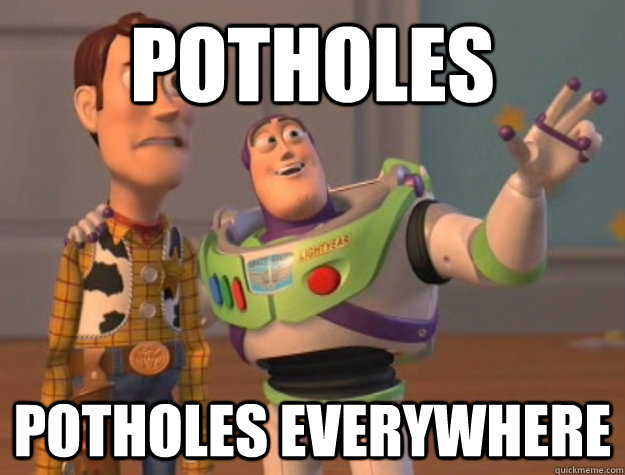 Potholes Toy Story