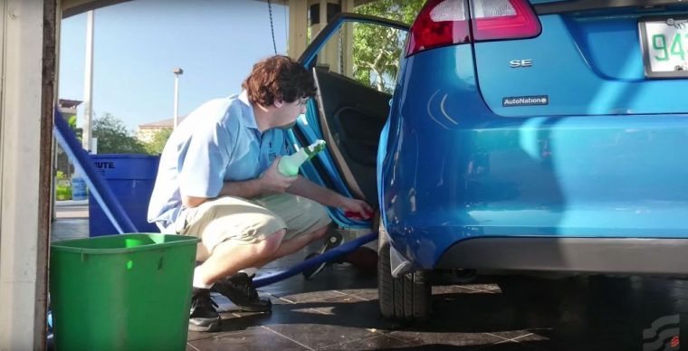 Rising tide car wash employs autistic adults vacuum