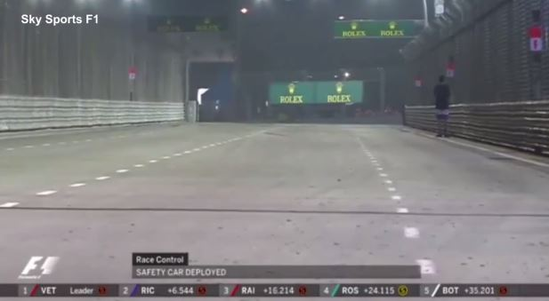 Singapore Grand Prix Man on Track