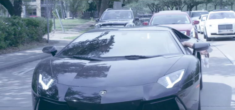 "Young Dolph featured a Aventador LP 700-4 in his video for ""Down South Hustlers"""