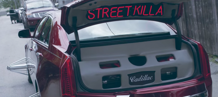 "Rapper Young Dolph used a Cadillac ATS with Texas Wire Wheels for his ""Down South Hustlers"" music video"