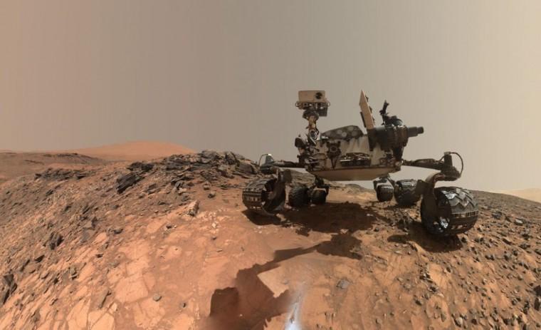 The Mars Curiosity Rover takes a selfie