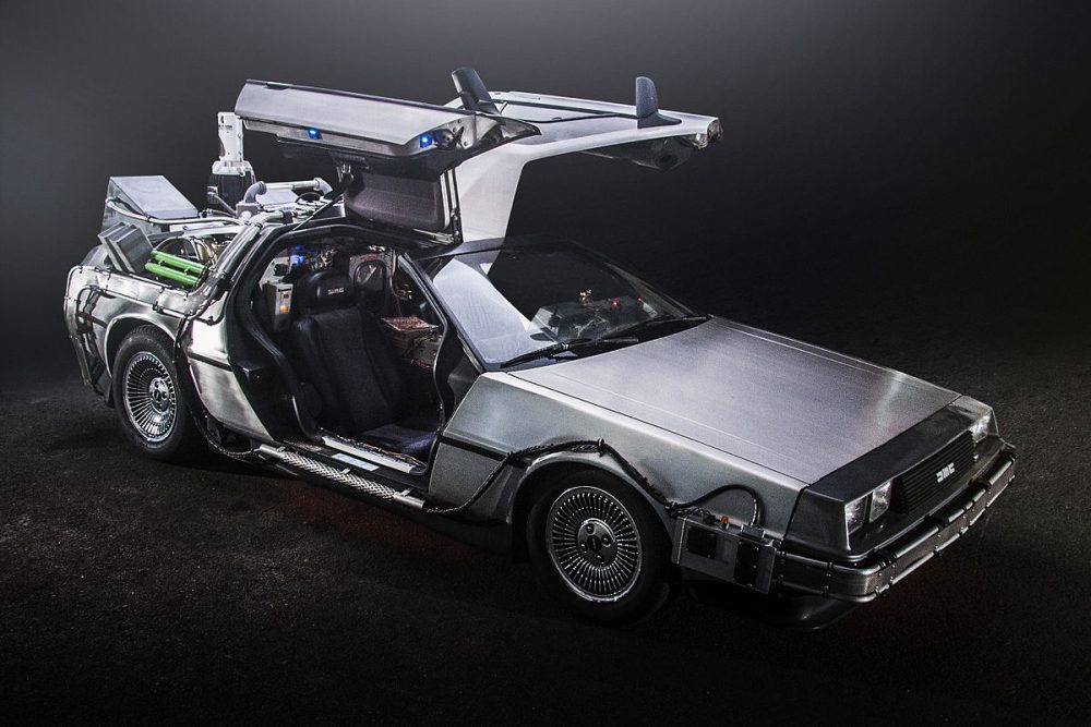DeLorean time machine from Back to the Future.