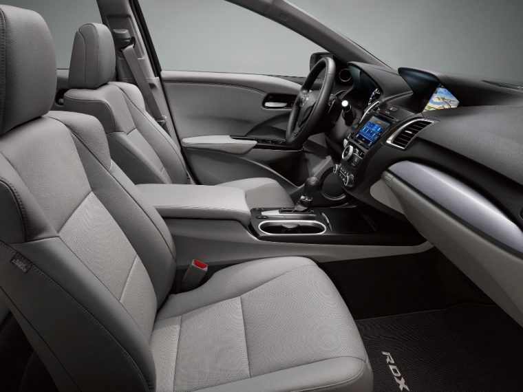 Leatherette-trimmed sport seats and interior trim come with the 2016 Acura RDX