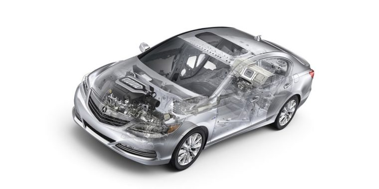 The 2016 Acura RLX comes with a standard 3.5-liter aluminum-alloy direct injection V6 good for 310 horsepower and 272 lb-ft of torque