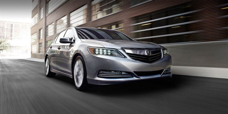 Higher trim levela of the 2016 Acura RLX features hybrid badging