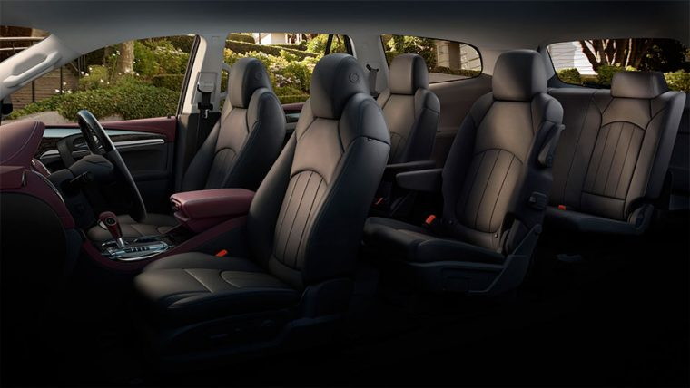 Seven-passenger seating is available with the 2016 Buick Enclave