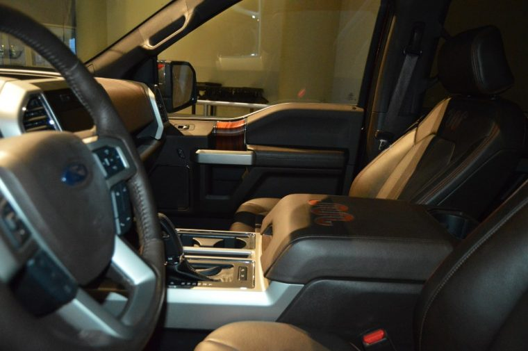 Fade-to-off interior lighting is iincluded with the 2016 Ford F-150